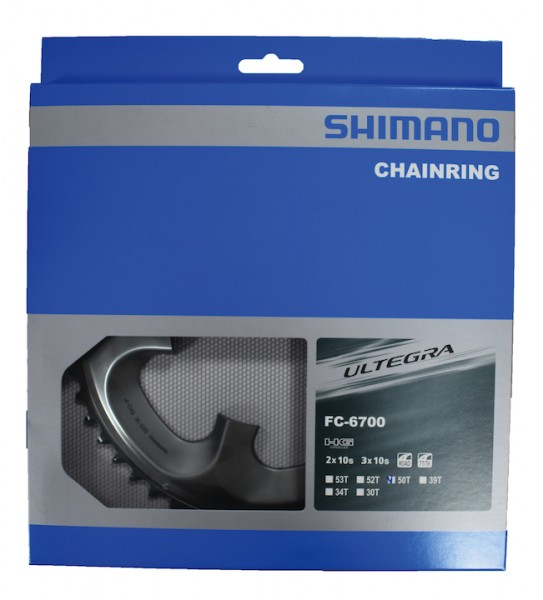 SHIMANO Kettenblatt Ultegra FC6750 50 Zähne | silber | Lochkreis: 110 mm