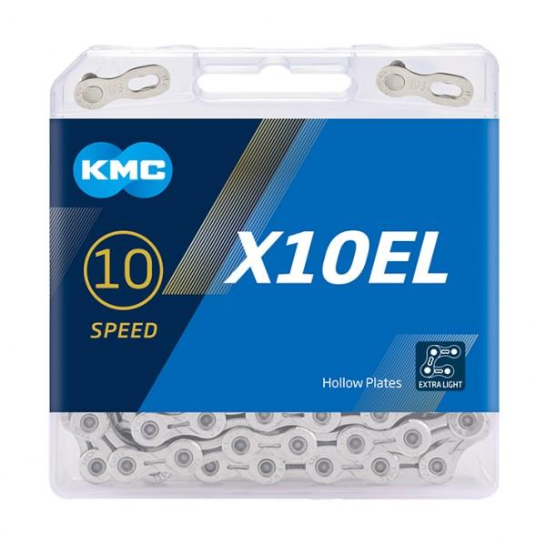 KMC Fahrrad Kette X10EL Kompatibilität: 10-fach   SB-Verpackung   silber   114 Glieder