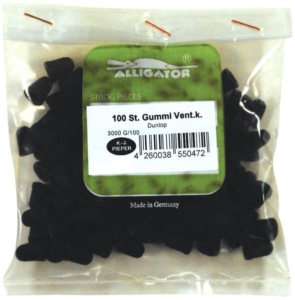 ALLIGATOR Staubkappe für Dunlopventil Gummi | DV | Montageverpackung | schwarz