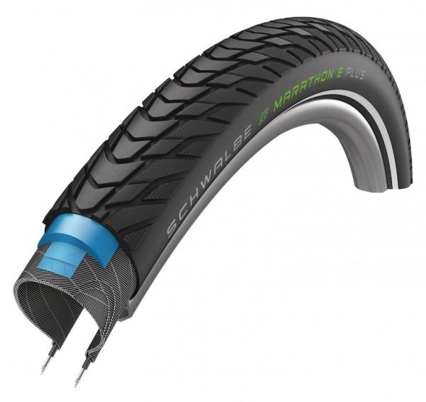 SCHWALBE Fahrradreifen Marathon E-Plus ADDIX HS498 27,5 Zoll   ETRTO: 50-584   Draht   TwinSkin   AD