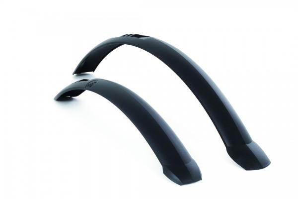 HEBIE Steckschutzblech Set TAIPAN 28 schwarz | Laufradgröße: 28 Zoll | Schutzblechbreite: 45 mm