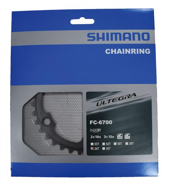 SHIMANO Kettenblatt Ultegra FC6750 34 Zähne | silber | Lochkreis: 110 mm