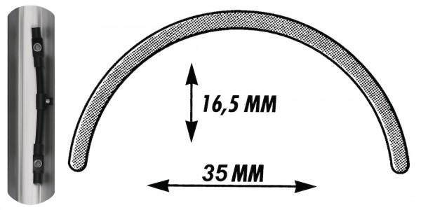 SKS Schutzblech Bluemels schwarz-glänzend | Laufradgröße: 27 / 28 Zoll | Schutzblechbreite: 45 mm