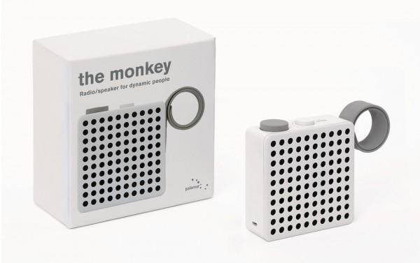 PALOMAR Radio The Monkey Maße: 12 x 10 x 3,5 cm | weiß
