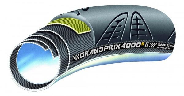 CONTINENTAL Schlauchreifen Grand Prix 4000 S II 28 Zoll   ETRTO: 22-622   Schlauch   schwarz