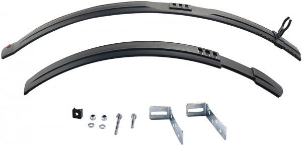 HEBIE Steckschutzblech Set Natter schwarz | Laufradgröße: 26 - 29 Zoll | Schutzblechbreite: 60 mm