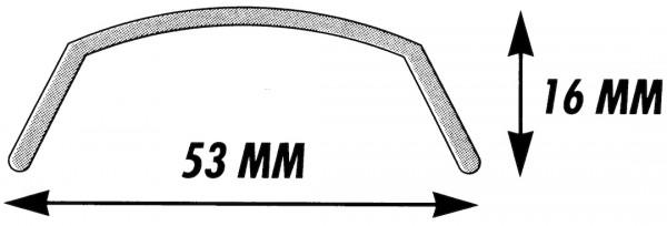 SKS Schutzblech Bluemels schwarz | Laufradgröße: 24 Zoll | Schutzblechbreite: 53 mm