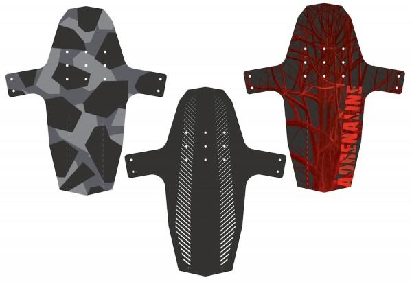 HEBIE Vorderradspritzschutz SWAP Front Camouflage | Laufradgröße: 26 - 29 Zoll | Schutzblechbreite: