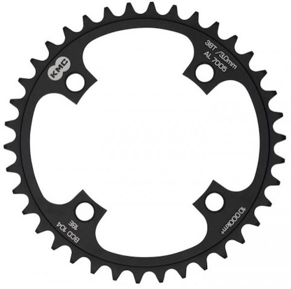 KMC Kettenblatt für E-Bike 42 Zähne | schwarz eloxiert | Lochkreis: 104 mm | Ausführung: 1/2 x 1/8