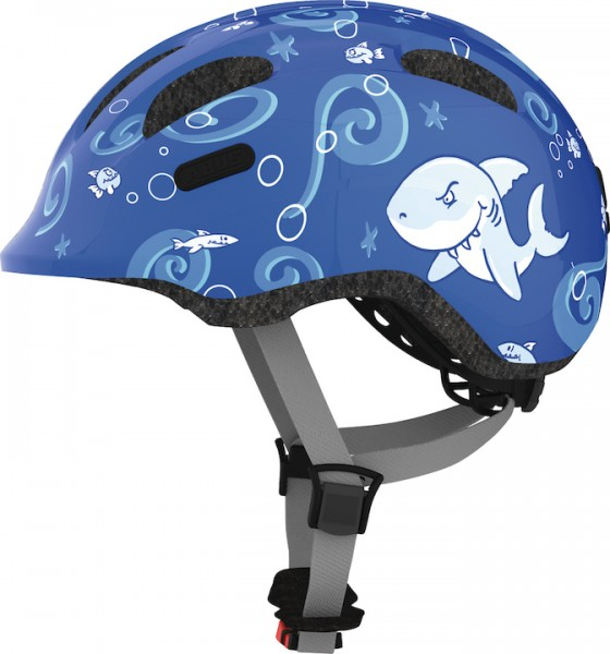 ABUS Kinderhelm Smiley 2.0 Größe: S | Kopfumfang: 45 - 50 cm | blue sharky