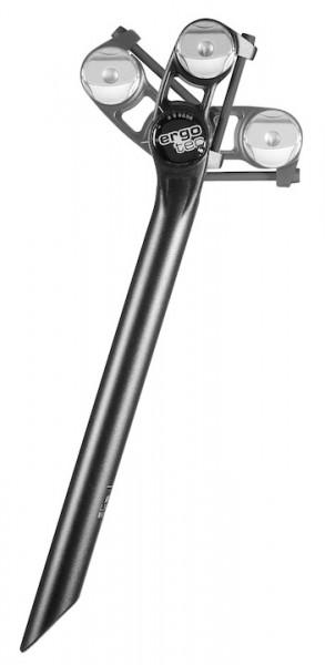 ERGOTEC Patentsattelstütze Alu Futura schwarz-sandgestrahlt   Durchmesser: 27,2 mm   SB-Verpackung