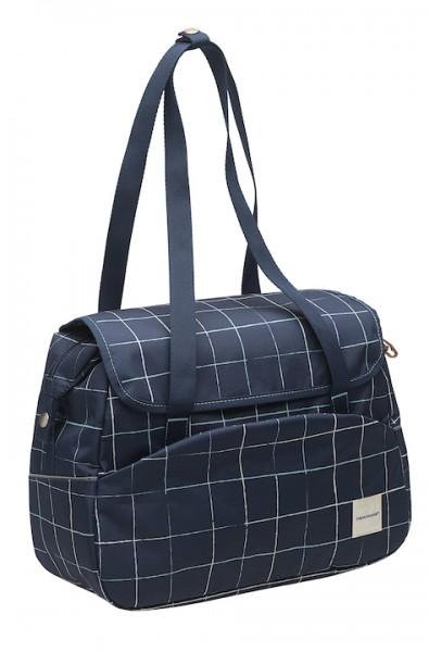 NEW LOOXS Einzeltasche Tosca Check Befestigung: Haken | blau