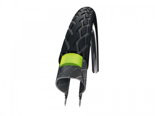 SCHWALBE Fahrradreifen Marathon Green Guard HS 420 27 Zoll | ETRTO: 32-630 | Draht | TwinSkin | schw