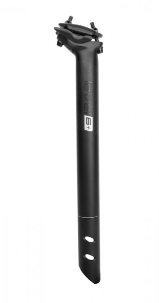 ERGOTEC Patentsattelstütze Alu Ray schwarz-sandgestrahlt | Durchmesser: 31,6 mm | SB-Verpackung