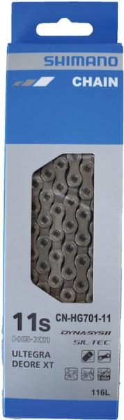 SHIMANO Fahrrad Kette CNHG701-11 Kompatibilität: 11-fach   SB-Verpackung   116 Glieder   Verschluss:
