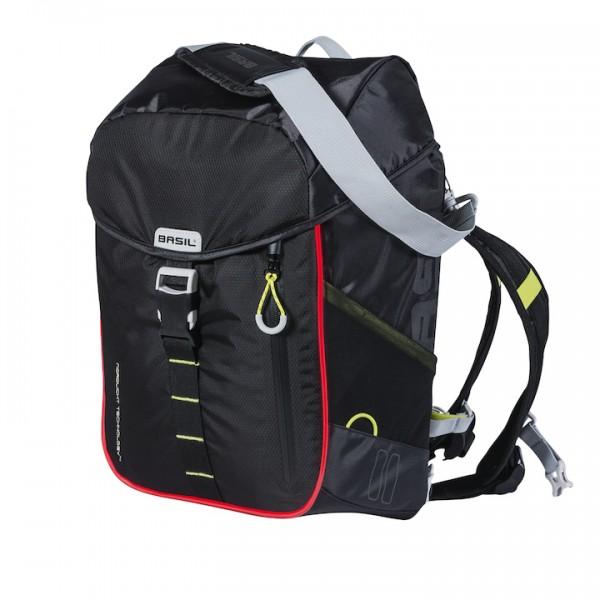 BASIL Einzeltasche Miles Daypack Nordlicht Befestigung: Hook-On System   schwarz lime
