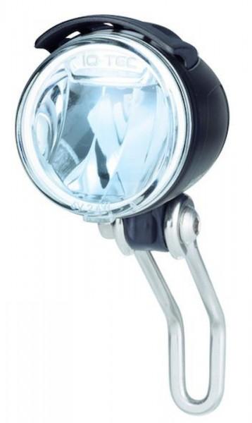 B&M Dynamo-Scheinwerfer Lumotec IQ Cyo Premium Befestigung: Gabelkrone   schwarz   An-/Ausschalter: