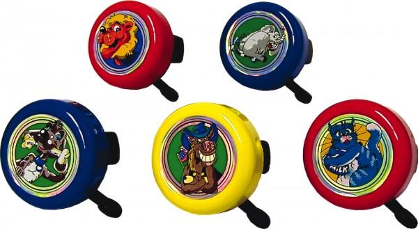 REICH Kinder-Glocke Crazy Animals sortiert | Motiv: Tiere | Durchmesser: 55 mm