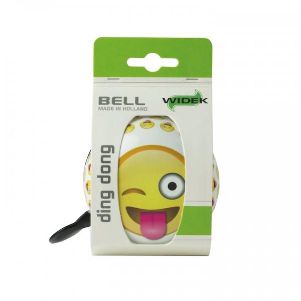 WIDEK Ding-Dong Glocke Emoji Crazy weiß / gelb | Motiv: Emoji | Durchmesser: 80 mm