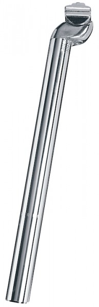 ERGOTEC Patentsattelstütze Alu silber   Durchmesser: 26,6 mm   SB-Verpackung