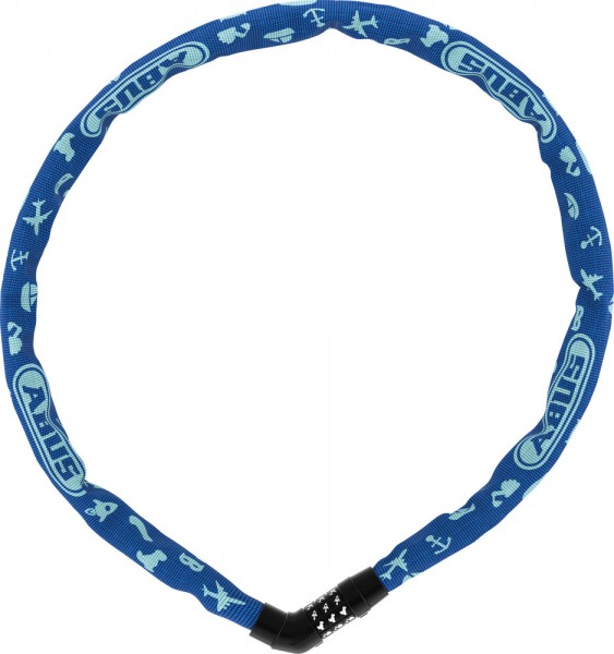 ABUS Fahrradschloss Kettenschloss Steel-O-Chain? 4804C/75 blue SYMBOLS