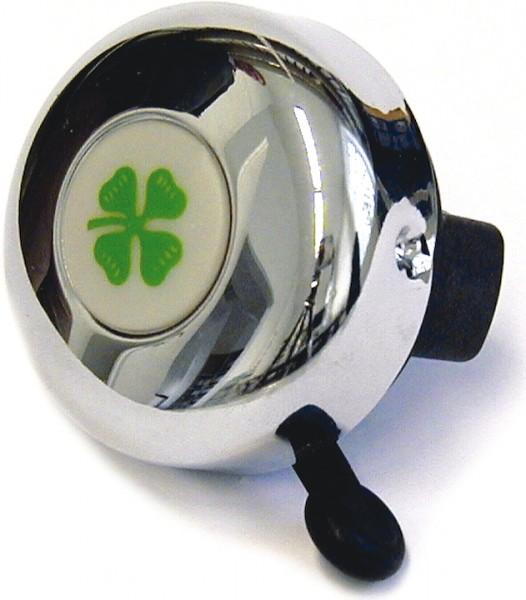 REICH Sicherheitsglocke Kleeblatt verchromt | Motiv: Kleeblatt | Durchmesser: 55 mm