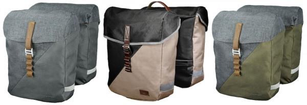 RACKTIME Doppelpacktasche Heda Befestigung: Snapit | dust grau