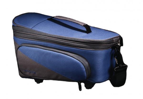 RACKTIME Gepäckträgertasche Talis Plus trunk bag Befestigung: Snapit | berry blue / stone grau