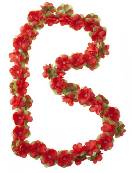 BASIL Blumengirlande rot