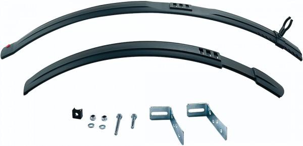 HEBIE Steckschutzblech Set Natter schwarz | Laufradgröße: 24 Zoll | Schutzblechbreite: 60 mm