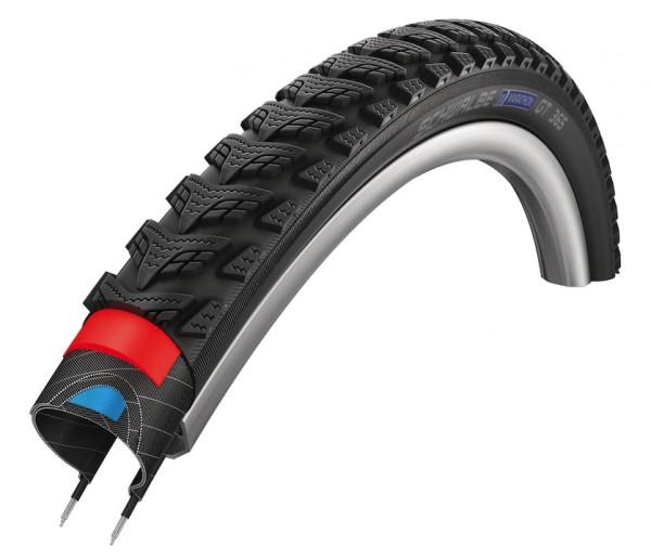 SCHWALBE Fahrradreifen Marathon GT 365 HS 475 20 Zoll | ETRTO: 40-406 | Draht | TwinSkin | schwarz R