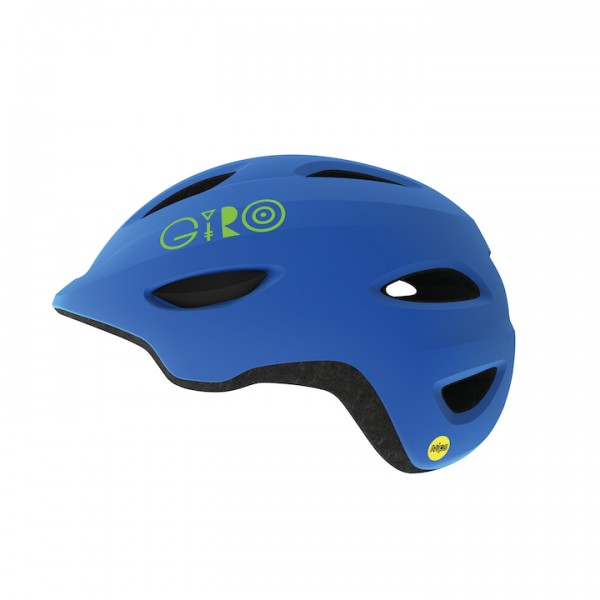 Fahrradhelm Giro Kinderhelm Scamp MIPS matte blue / lime S 49-52 cm matte blue / lime,S 49-52 cm