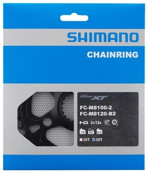 SHIMANO Kettenblatt Deore XT FCM8100 36 Zähne | schwarz | Lochkreis: Direct Mount mm