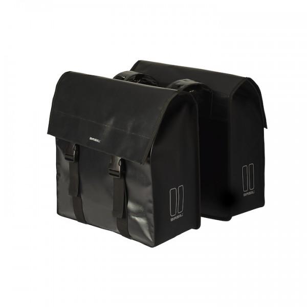 BASIL Doppelpacktasche Urban Load Befestigung: Racktime | schwarz | Für MIK System