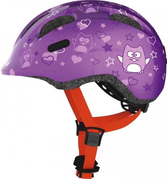 ABUS Kinderhelm Smiley 2.0 Größe: S   Kopfumfang: 45 - 50 cm   purple star