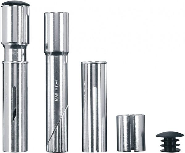 ERGOTEC Adapter-Set Ahead-Vorbau silber | für Ahead-Vorbau 25,4/28,6 mm