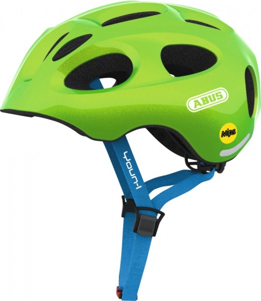 ABUS Fahrradhelm Youn-I MIPS sparkling green S Kopfumfang [cm] 48-54