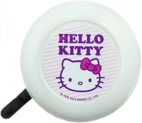 BIKE FASHION Kinder-Glocke Hello Kitty weiß / pink | Motiv: Hello Kitty | Durchmesser: 57 mm