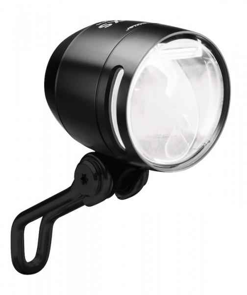 B&M Dynamo-Scheinwerfer Lumotec IQ-XS T senso plus Befestigung: Gabelkrone   schwarz   An-/Ausschalt
