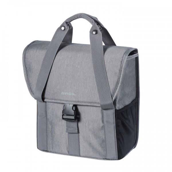 BASIL Einzeltasche Go Befestigung: Hook-On System   grau melee