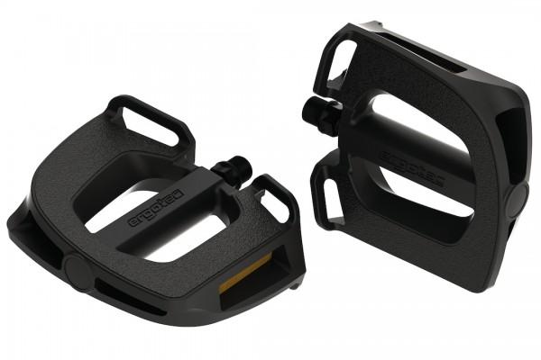 ERGOTEC Trekking-/Comfort-/City Pedal EP-2 Gewinde: 9/16 Zoll | Gleitlager | schwarz | SB-Verpackung
