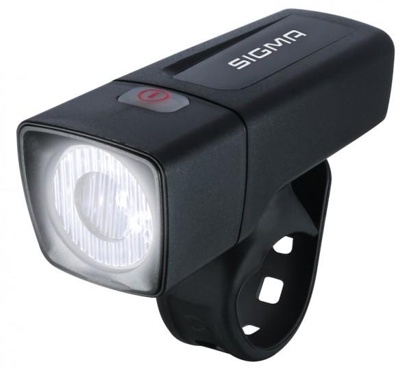 SIGMA LED Batteriefrontleuchte Aura 25 Lux inkl. Batterien 2 x AA | schwarz