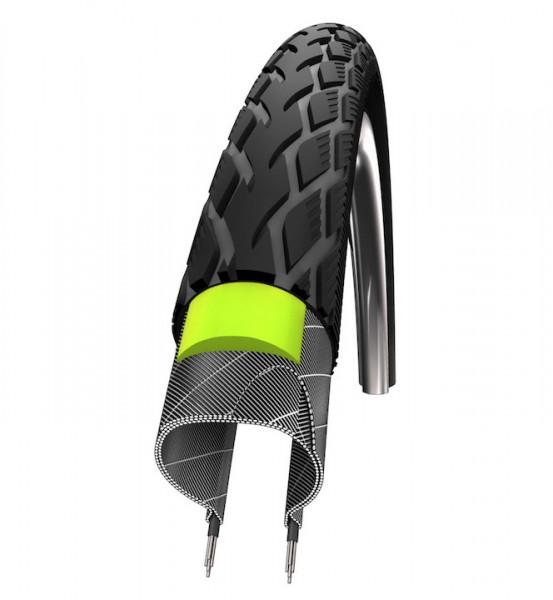 SCHWALBE Fahrradreifen Marathon Green Guard HS 420 28 Zoll | ETRTO: 23-622 | Draht | TwinSkin | schw