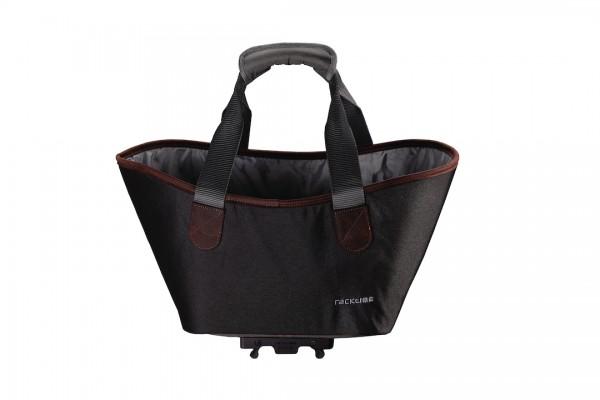 RACKTIME Gepäckträgertasche Agnetha Befestigung: Snapit | carbon black