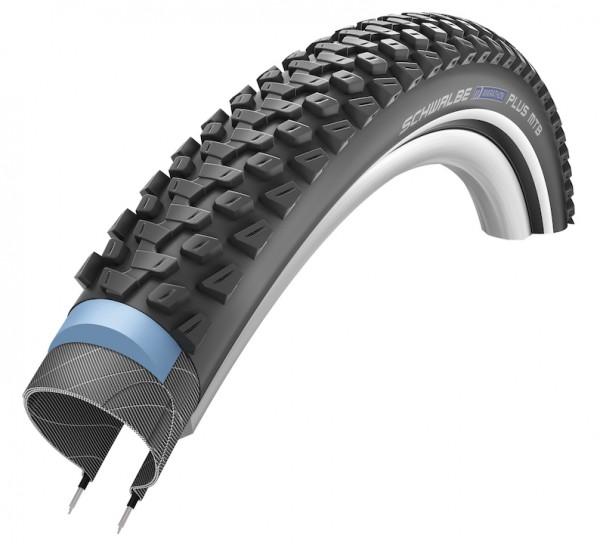 SCHWALBE Fahrradreifen Marathon Plus MTB HS 468 27,5 Zoll | ETRTO: 57-584 | Draht | TwinSkin | schwa