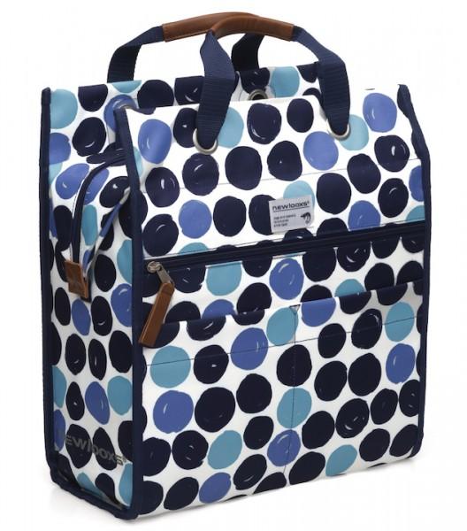 NEW LOOXS Einkaufstasche Lilly Dots Befestigung: Haken | blau
