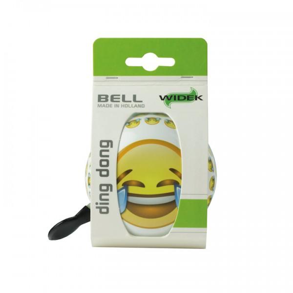 WIDEK Ding-Dong Glocke Tears Eyes weiß / gelb | Motiv: Emoji | Durchmesser: 80 mm