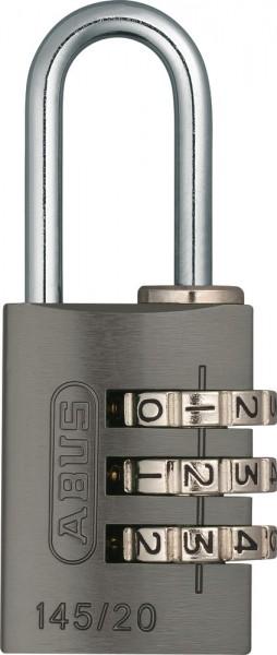 ABUS Fahrradschloss Zahlenschloss 145/20 titanium B/DFNLI