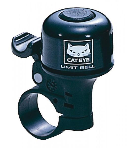 CATEYE Mini-Glocke Alu schwarz | Lenkerklemmdurchmesser: 22,2 mm