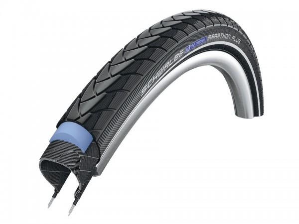 SCHWALBE Fahrradreifen Marathon Plus HS 440 28 Zoll | ETRTO: 40-622 | Draht | TwinSkin | schwarz Ref
